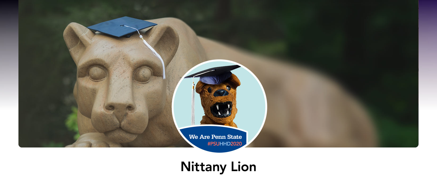 A mock up of the Nittany Lion's Facebook Profile