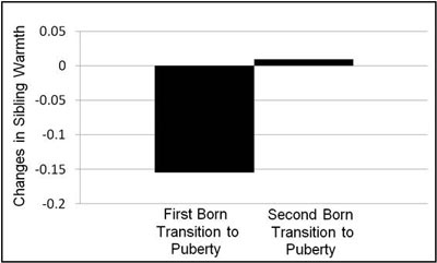 Changes in sibling warmth during first- and secondborns' transitions to puberty