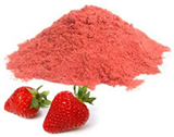 Strawberries and strawberry powder