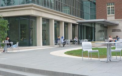 Biobehavioral Building Outside Terrace